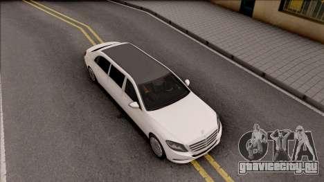 Mercedes-Maybach S600 Pullman для GTA San Andreas вид справа