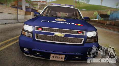 Chevrolet Tahoe Spanish Police для GTA San Andreas вид справа