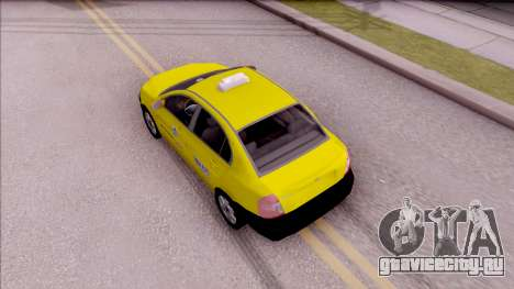 Hyundai Accent Taxi Colombiano для GTA San Andreas вид сзади