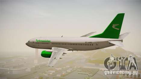 Boeing 737-300 Turkmenistan Airlines для GTA San Andreas вид справа