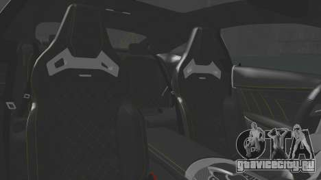 Mercedes-Benz C63 Coupe для GTA San Andreas вид изнутри