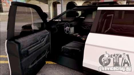 Ford Explorer Police Interception для GTA San Andreas вид изнутри