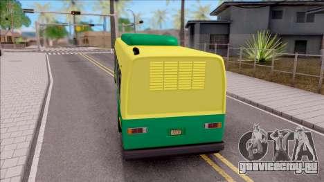 GTA V Brute Bus для GTA San Andreas вид сзади слева
