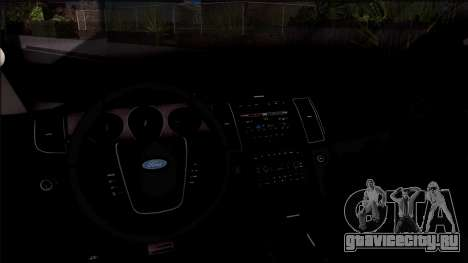 Ford Explorer Spanish Police для GTA San Andreas вид изнутри