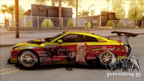 Nissan GT-R R35 Itasha COG LW Performance для GTA San Andreas вид слева