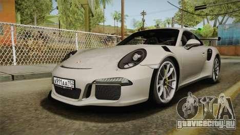 Porsche 911 GT3 RS 2015 для GTA San Andreas