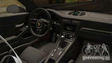Porsche 911 GT3 RS 2015 для GTA San Andreas вид изнутри