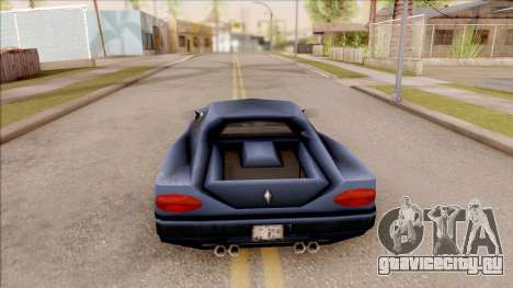 Cheetah from GTA 3 для GTA San Andreas вид сзади слева