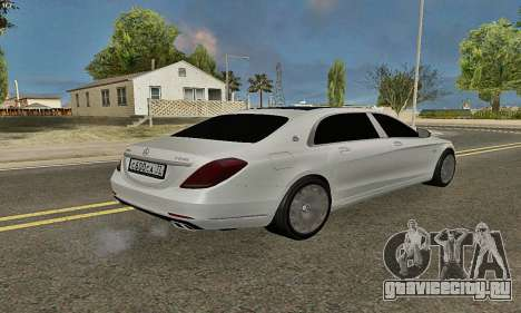Mercedes-Maybach S600 X222 Exclusive для GTA San Andreas вид справа