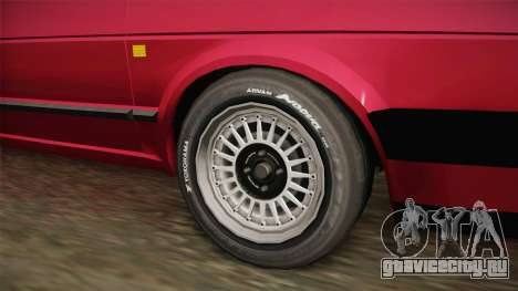 Volkswagen Golf Mk2 J для GTA San Andreas вид сзади