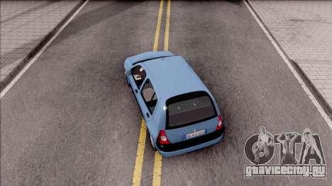 Renault Clio v2 для GTA San Andreas вид сзади
