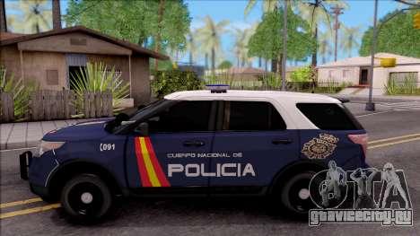 Ford Explorer Spanish Police для GTA San Andreas вид слева