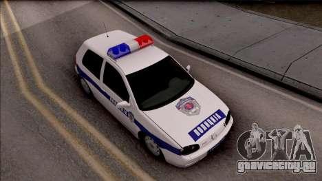 Volkswagen Golf 4 GTI Policija для GTA San Andreas