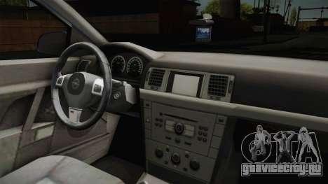 Opel Vectra C для GTA San Andreas вид изнутри