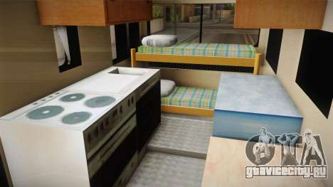 GTA 5 Brute Camper для GTA San Andreas вид изнутри