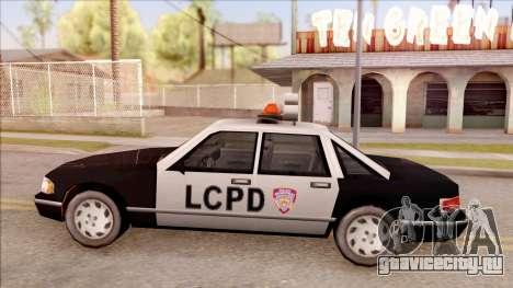 Police Car from GTA 3 для GTA San Andreas вид слева