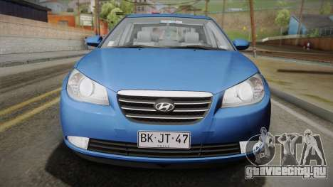 Hyundai Elantra 2008 для GTA San Andreas вид сзади слева