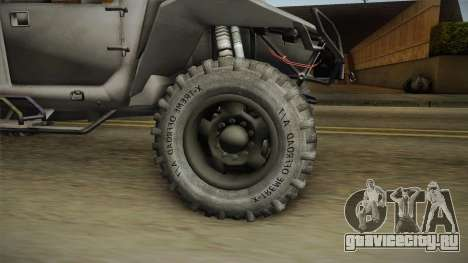 Ghost Recon Wildlands - Unidad AMV No Minigun v1 для GTA San Andreas вид сзади