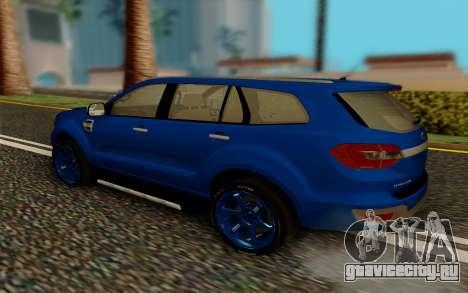 Ford Everest 2017 для GTA San Andreas вид сзади слева