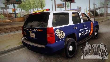Chevrolet Tahoe Spanish Police для GTA San Andreas вид слева