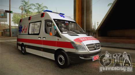 Mercedes-Benz Sprinter Iranian Ambulance для GTA San Andreas вид сзади слева