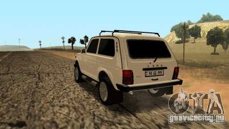 Lada Niva Urban Armenian для GTA San Andreas вид сзади слева