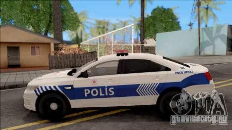 Ford Taurus Turkish Security Police для GTA San Andreas вид слева