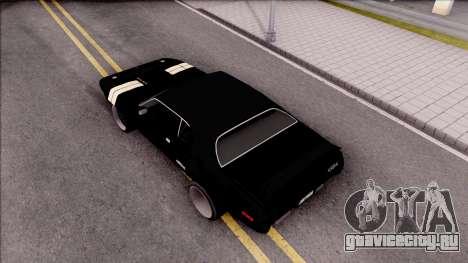 Plymouth GTX Roadrunner 1972 Fate Of Furious 8 для GTA San Andreas вид сзади