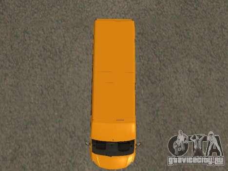 ГАЗ-A65R35 ГАЗель NEXT Маршрутка для GTA San Andreas вид сзади