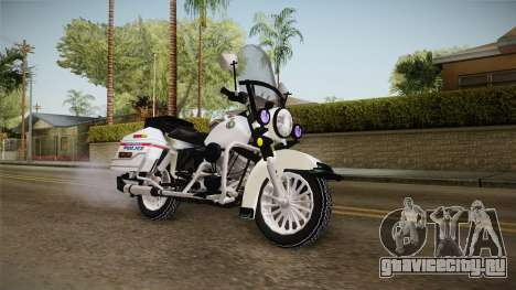Harley-Davidson Police Bike YRP для GTA San Andreas вид справа