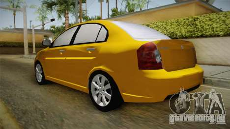 Hyundai Accent 2011 для GTA San Andreas вид сзади слева