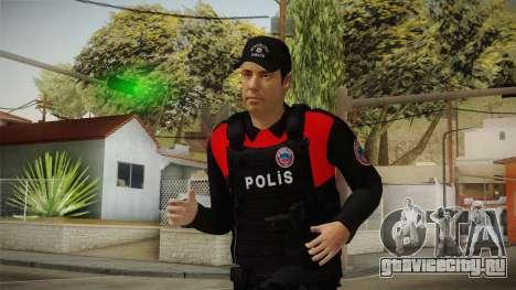 Turkish Police Officer with Kevlar Vest для GTA San Andreas