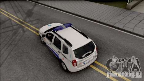 Renault Duster Spanish Police для GTA San Andreas вид сзади