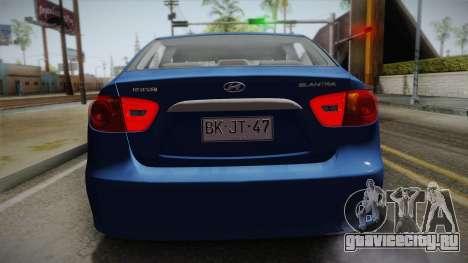 Hyundai Elantra 2008 для GTA San Andreas вид сзади