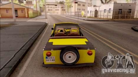 Trabant 601 Kübelwagen для GTA San Andreas вид сзади слева