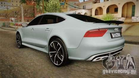Audi RS7 для GTA San Andreas вид слева