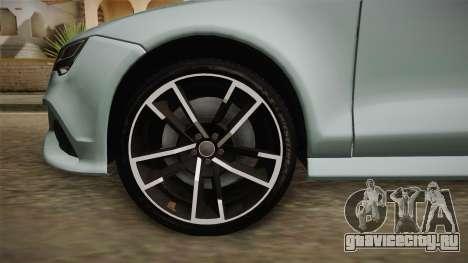 Audi RS7 для GTA San Andreas вид сзади