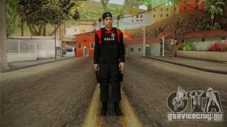 Turkish Police Officer with Kevlar Vest для GTA San Andreas второй скриншот