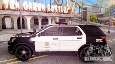 Ford Explorer Police Interception для GTA San Andreas вид слева
