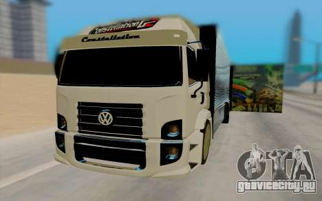 Volkswagen Constellation для GTA San Andreas вид сзади слева