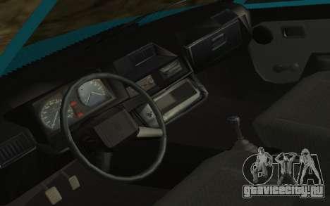 ЗАЗ 1102 Таврия для GTA San Andreas вид изнутри