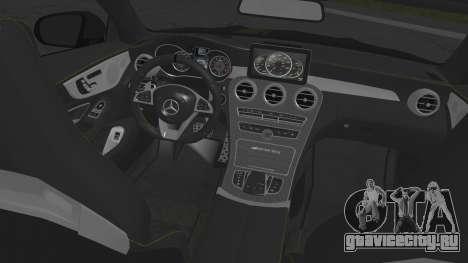 Mercedes-Benz C63 Coupe для GTA San Andreas вид сзади