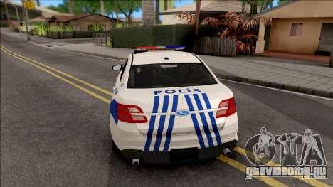 Ford Taurus Turkish Security Police для GTA San Andreas вид сзади слева
