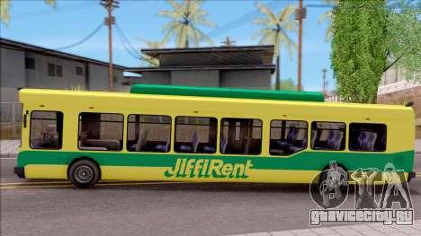 GTA V Brute Bus для GTA San Andreas вид слева
