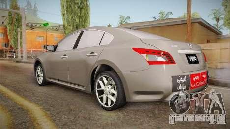 Nissan Maxima 2011 для GTA San Andreas вид слева