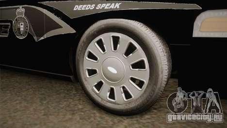 Ford Crown Victoria PI Stealth YRP для GTA San Andreas вид сзади