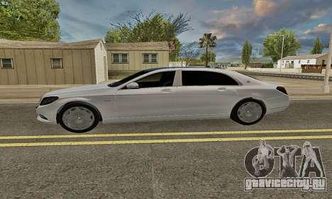 Mercedes-Maybach S600 X222 Exclusive для GTA San Andreas вид слева