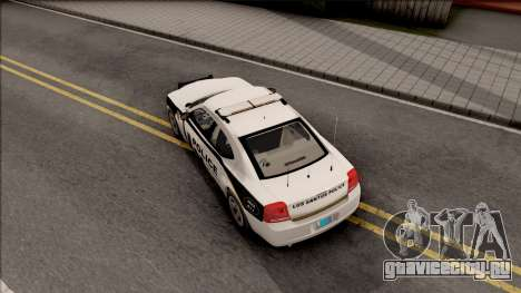 Dodge Charger Los Santos Police Department 2010 для GTA San Andreas вид сзади