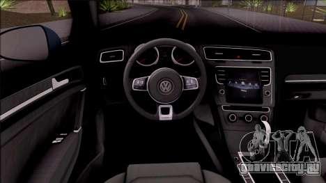 Volkswagen Golf 7 GTI Turkish Airlines для GTA San Andreas вид изнутри