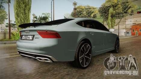 Audi RS7 для GTA San Andreas вид сзади слева